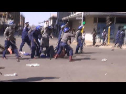 Journal de l'Afrique - Manifestation au Zimbabwe: La police disperse violemment les opposants