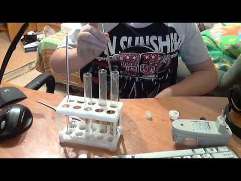 Обзор опыта в наборе юных химик - YouTube