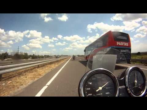Honda super four v-tech, Kawasaki versys & three others on express way!!!