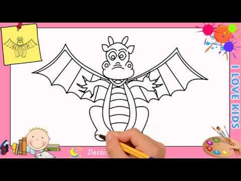 Comment Dessiner Un Dragon Facilement Mettre A Jour Pour Enfants 2 Youtube
