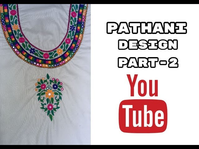 Hand Embroidery : Pathani design | Masculine stitch | Part-2