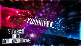 EPIC 3D TEXT STAR BANNER W/ Color Changer || Photoshop 2020