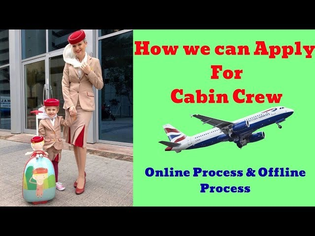 How to Apply Cabin Crew Jobs Online | Full details with the link