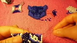 Peyote stitch this is a pattern that you will love like i do great face#06