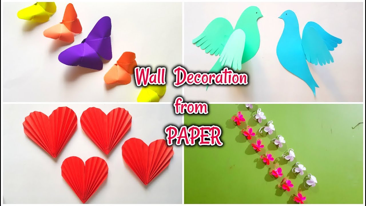 4 Awesome Wall Decor From Paper