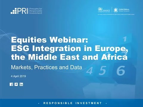 Equities:  ESG Integration In EMEA - Markets, Practices And Data
