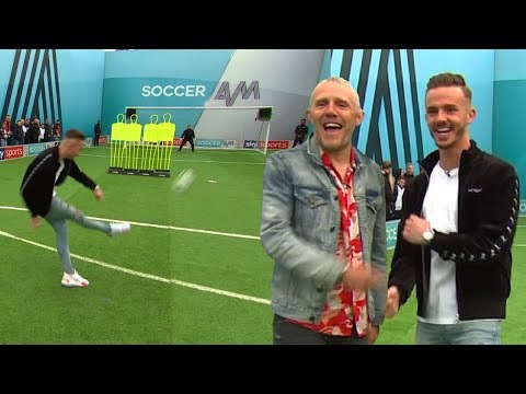 James Maddison on FLAMES during free-kick challenge vs Jimmy Bullard    You Know The Drill LIVE