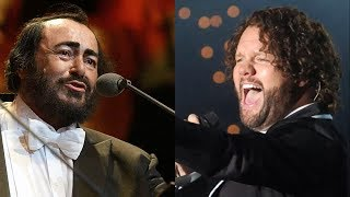 Luciano Pavarotti vs David Phelps - High Notes Battle - Part II (Bb4-D5)