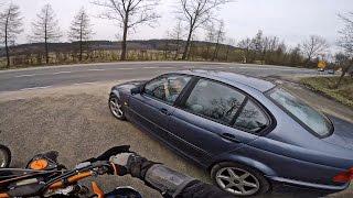 KTM 400  vs. girls in BMW e46