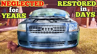 Restoring my Cheap, Beaten & Broken Auction Audi into a $5,000 Sports Car Bargain in 3 Days