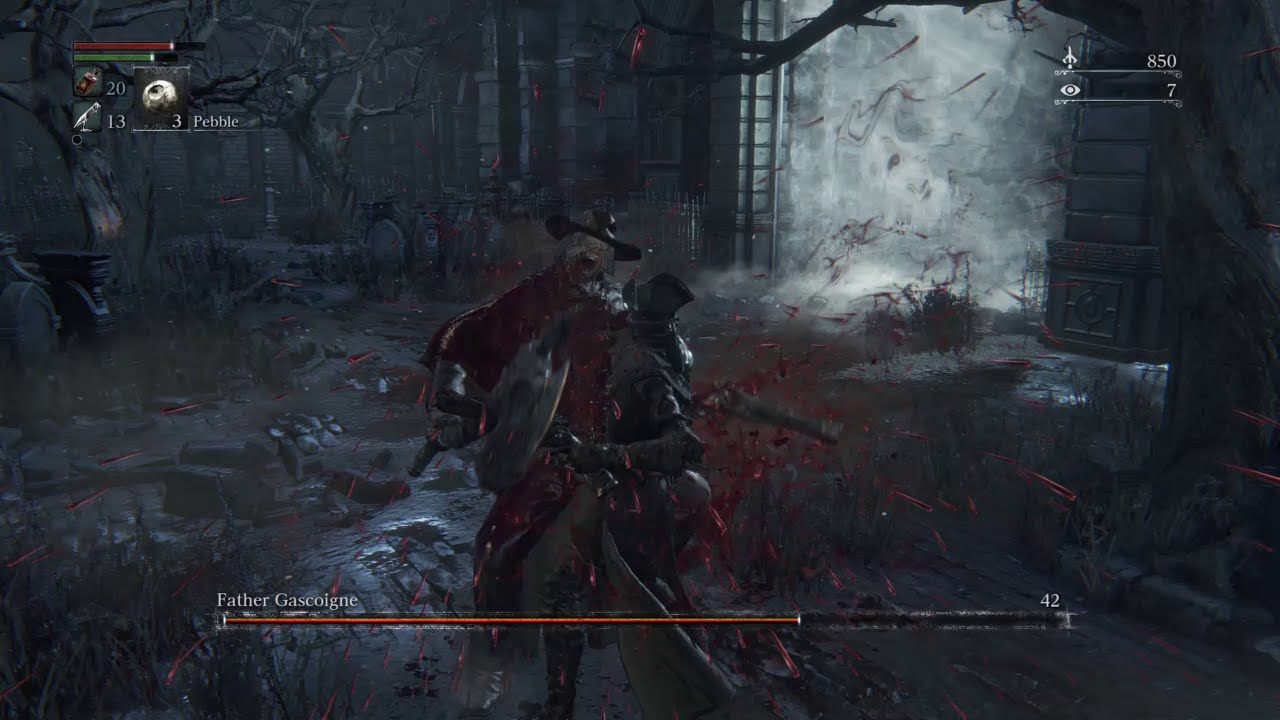 Bloodborne (ブラッドボーン) Father Gascoigne SLAUGHTERED - YouTube