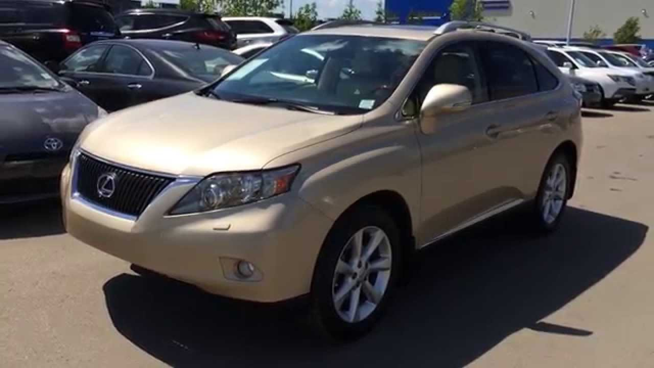 Lexus Certified Pre Owned Gold On Parchment 2010 RX 350 AWD   Touring  Package Review Nisku, Alberta   YouTube