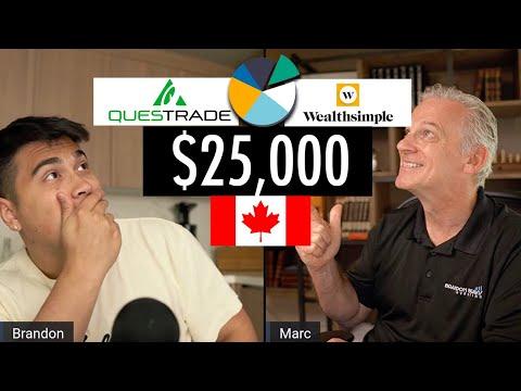 We're Starting A New $25,000 Portfolio CANADA | Questrade & Wealthsimple Challenge | Ep. 1