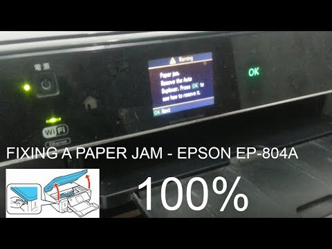 Fixing a paper jam - epson ep-804a