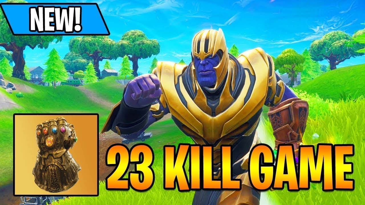 Free To Use New Thanos Win In Fortnite Battle Royale New Fortnite Update Thanos Win Gameplay