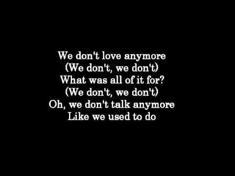 We Don't Talk Anymore - Charlie Puth ft Selena Gomez (Lyrics)