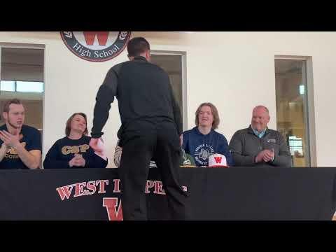 West De Pere High School NLI Signing Feb. 14, 2020