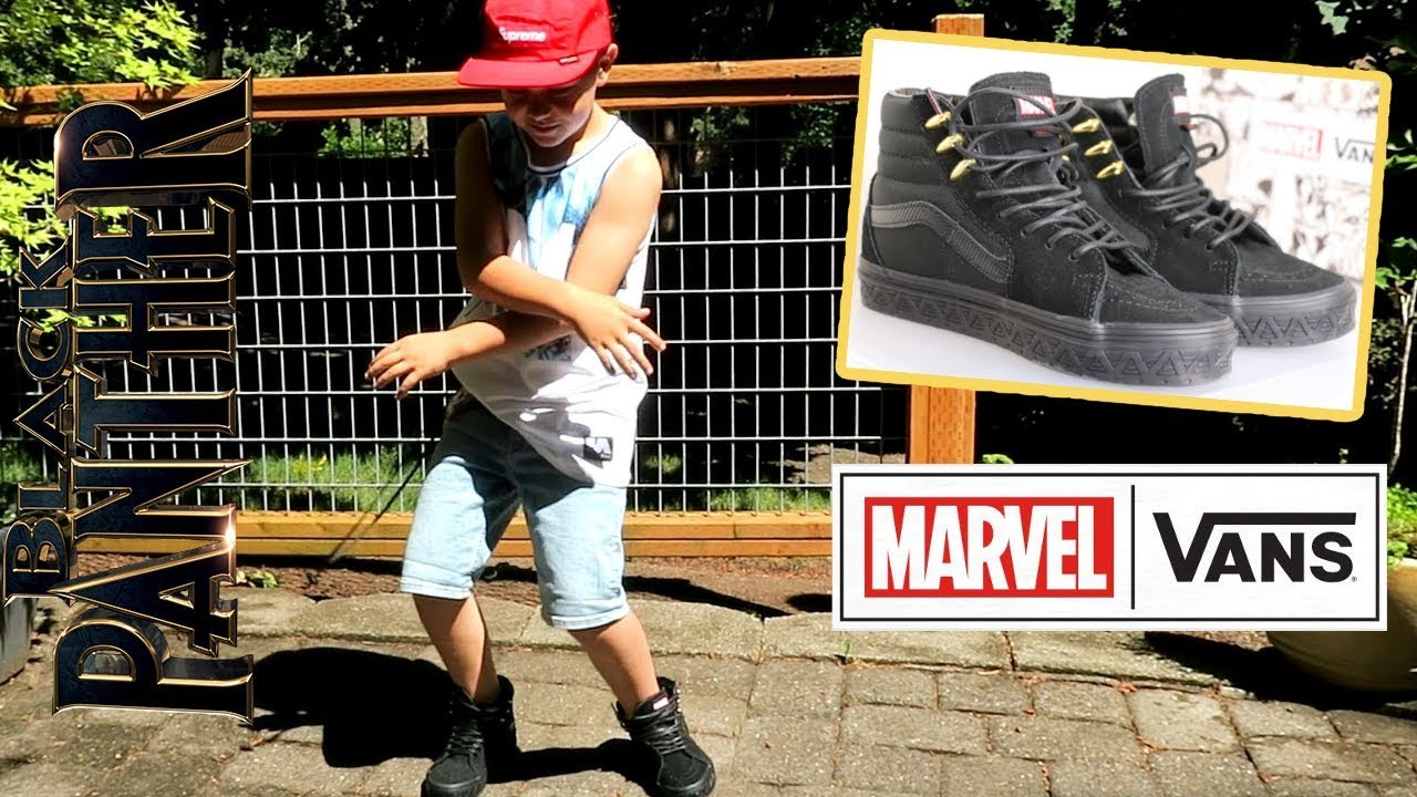 e6ddd192be6d Vans Marvel BLACK PANTHER Sk8-Hi Shoe Review   On Foot - YouTube