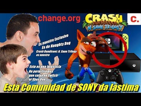 Usuarios de SONY quieren impedir que Crash Bandicoot Trilogy salga en Switch y en Xbox One