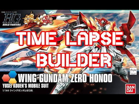 HG WING GUNDAM ZERO HONOO | Time Lapse Build | x8 Time Speed