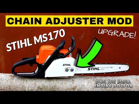 STIHL MS170 MS180 Chainsaw Chain Adjuster MOD Upgrade!