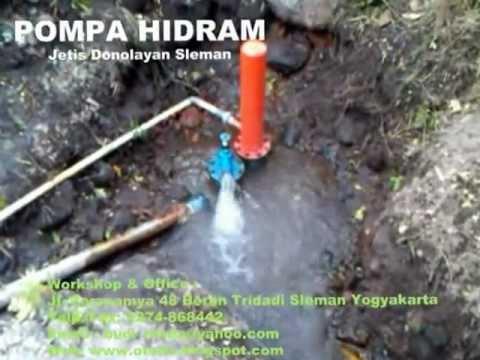 Pompa Hidram Pompa Air Tanpa Bbm Dan Listrik Hydraulic Ram Youtube