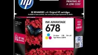 How to replace cartridge of HP ink advantage 2545(To buy it via Amazon.........HP 678 Ink Cartridge (Tri color) - http://amzn.to/1UmPNuh Hit Like, Comment, Subscribe It helps me a lot! Follow Me at these places ..., 2015-07-12T20:09:55.000Z)
