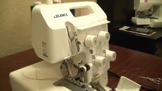How to thread the Juki MO644D Serger