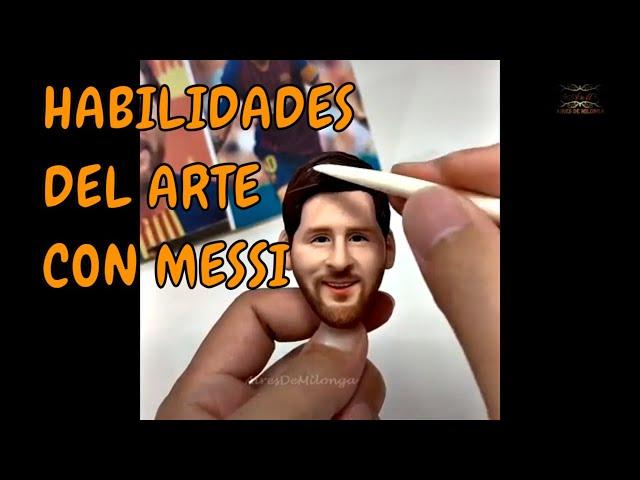 Esculpida una maravilla argentina Leo Messi con Solo tango milongueando en el 40