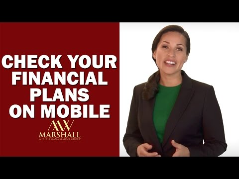 Check Your Financial Plans On Mobile - Marshall Wealth Management Group