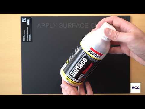 Demo : Silicone cleaning on acid-etched glass - for installers