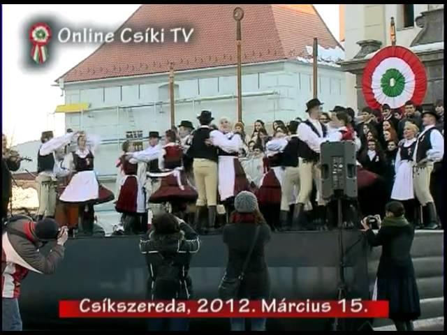 Székely táncok, részlet az ünnepi m?sorból, Csíkszereda, 2012. március 15.