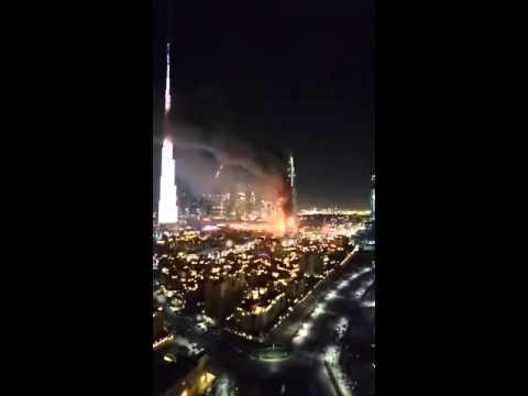 DUBAI'S ADDRESS HOTEL ON FIRE [LIVE ON PERISCOPE] 12/31/2015