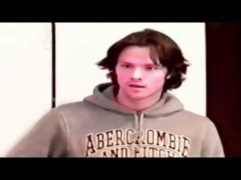 Jared Padalecki auditioning for his role as Sam Winchester in the series 'Supernatural'