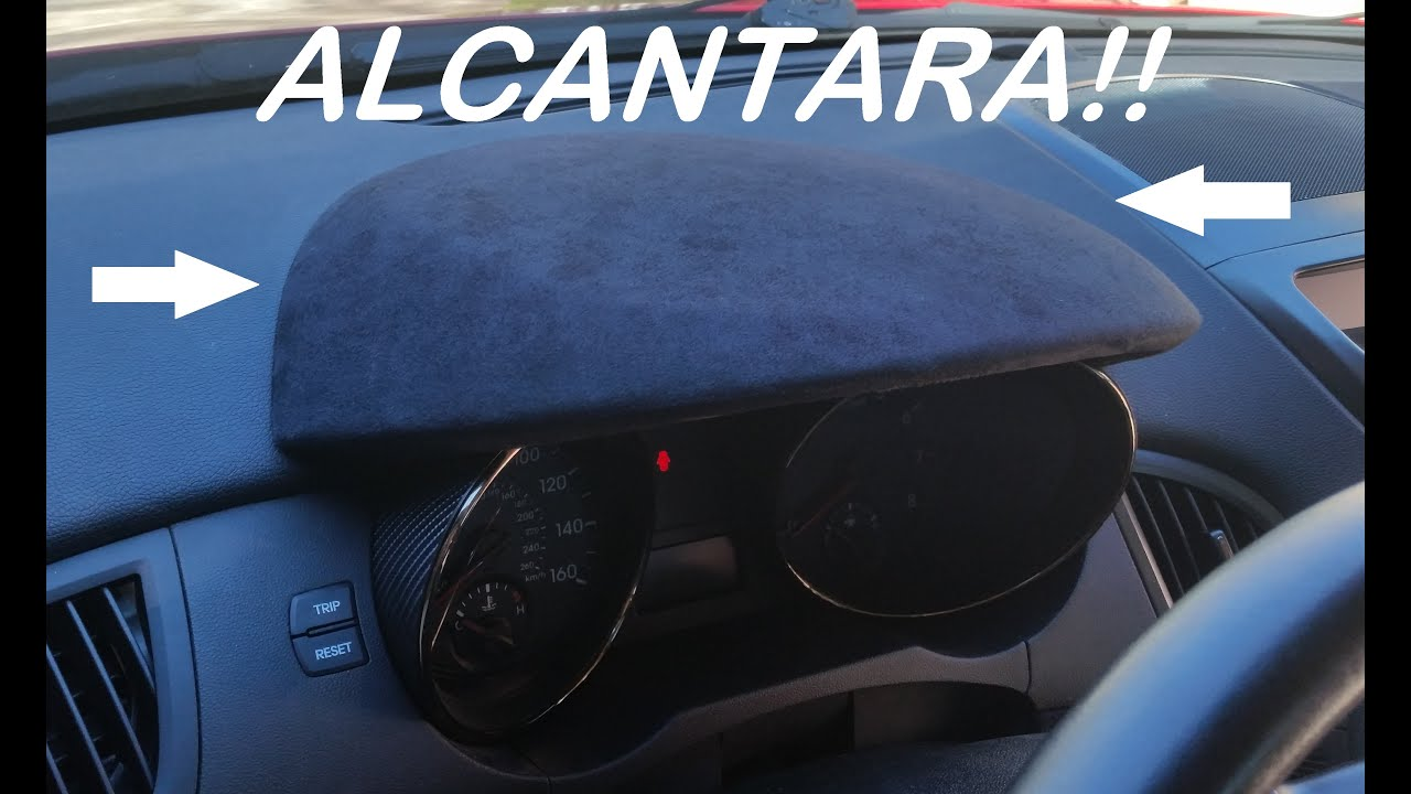 genesis coupe alcantara interior trim install gauge bezel wrap. Black Bedroom Furniture Sets. Home Design Ideas