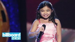 angelica Hale, 9-Year-Old Transplant Survivor, Earns Golden Buzzer on 'AGT' | Billboard News