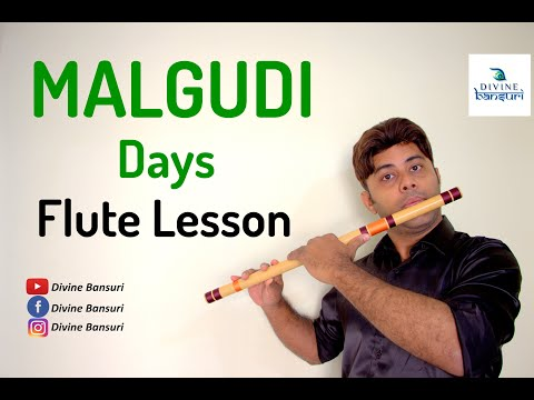 Malgudi Days Theme Tune - Cover & Flute Lesson With Notations  - D Scale - Tutorial - Divine Bansuri