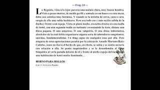 Horno para Bollos, Capítulo 2 (Vetusta Pasión) (Fragmento 24)