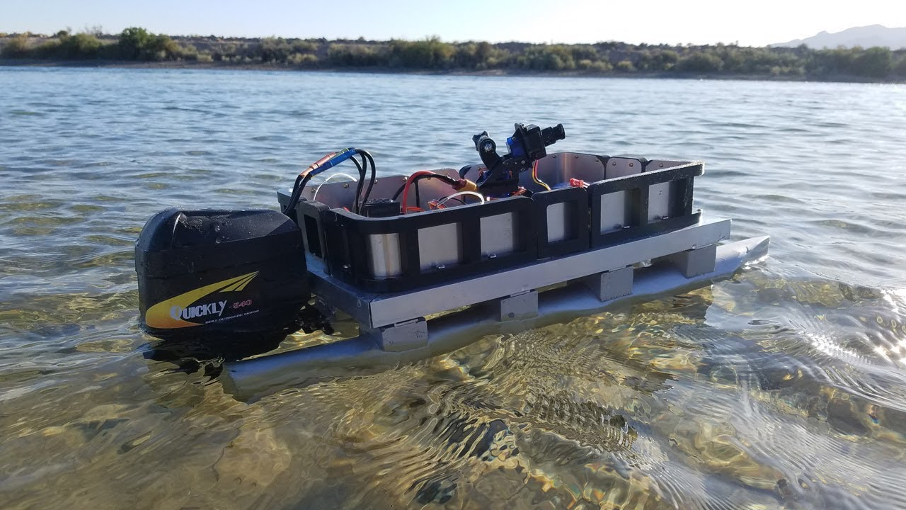 Rc Pontoon Boat Build Diy From Scratch