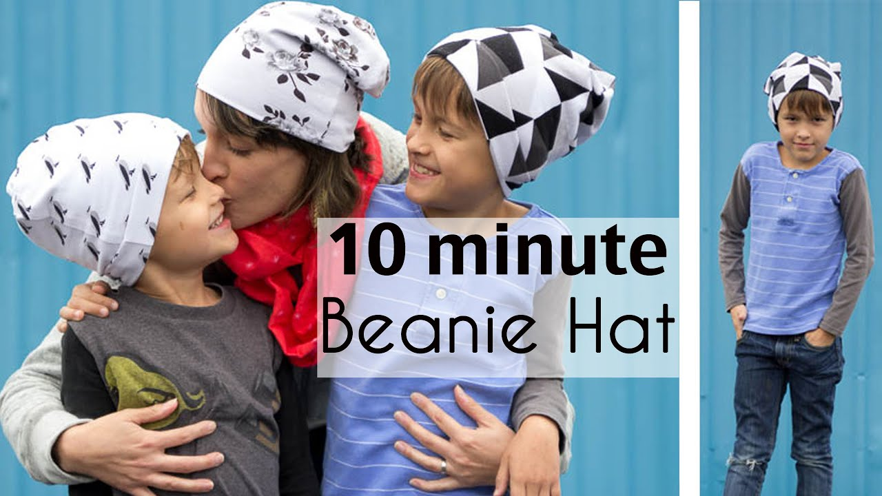 Sew a Beanie Hat in 10 Minutes! - YouTube d7a88975477