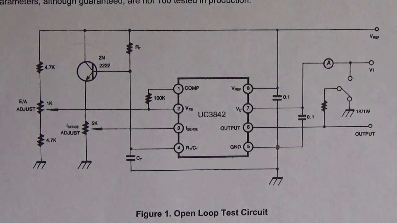 Testing The Uc3844 Smps Controller Integrated Circuit Youtube Diagram Of