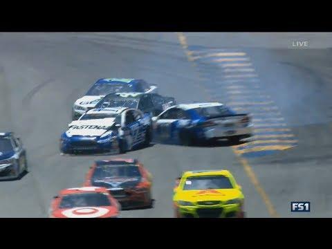 Monster Energy NASCAR Cup Series 2017. Sonoma Raceway. Ricky Stenhouse Jr. & Danica Patrick Crash