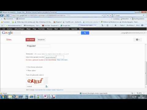 Sjabloon selecteren in google sites