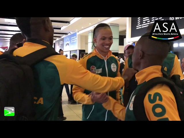Team SA African Championships Departure
