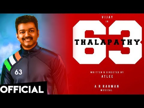 OFFICIAL: Thalapathy 63 Heroine Revealed | Vijay | Atlee