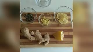 Зелёный чай с лимоном и имбирём