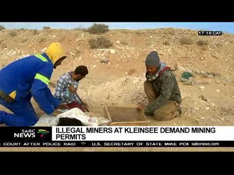 Kleinsee Illegal Miners Demand Permits
