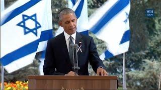Shimon Peres Eulogy - Obama's Full Speech
