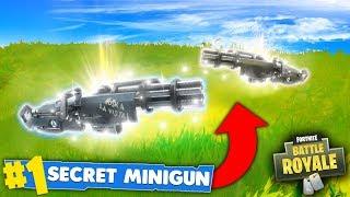 NEW UPDATE - SECRET MINIGUN SPAWNS! (Fortnite Battle Royale)
