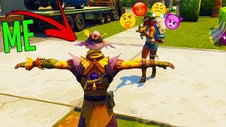 today we use the new scarecrow and go around fortnite battle royale...